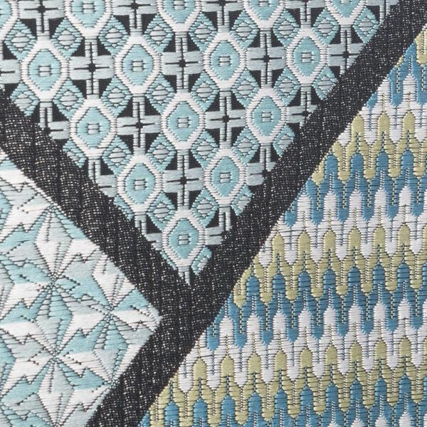 motif Escher bleu