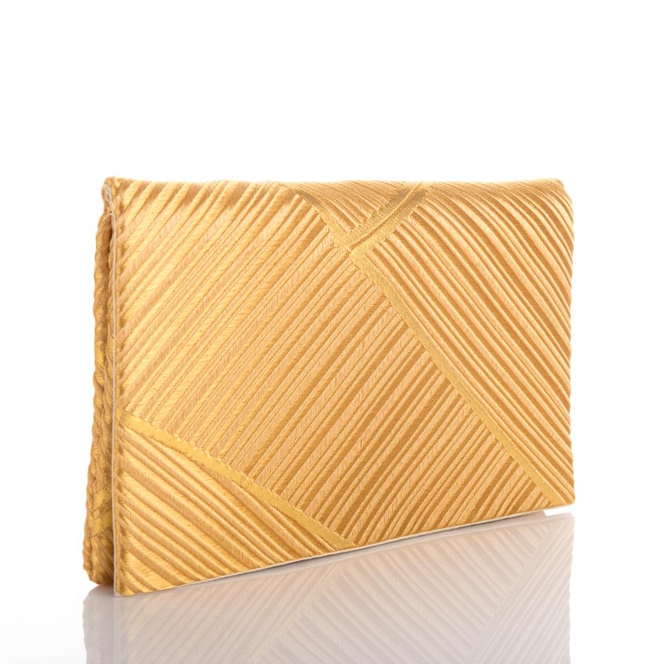 Pochette bambous d'or de face