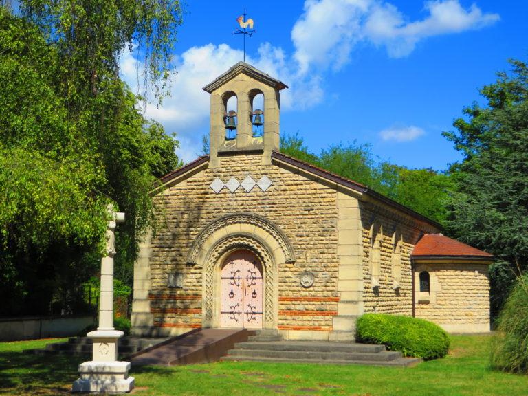 """The Notre-Dame-de-la-Paix chapel also called """"Foujita"""" chapel"""