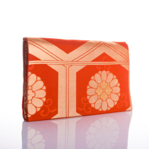 Pochette Harmonie orange et or