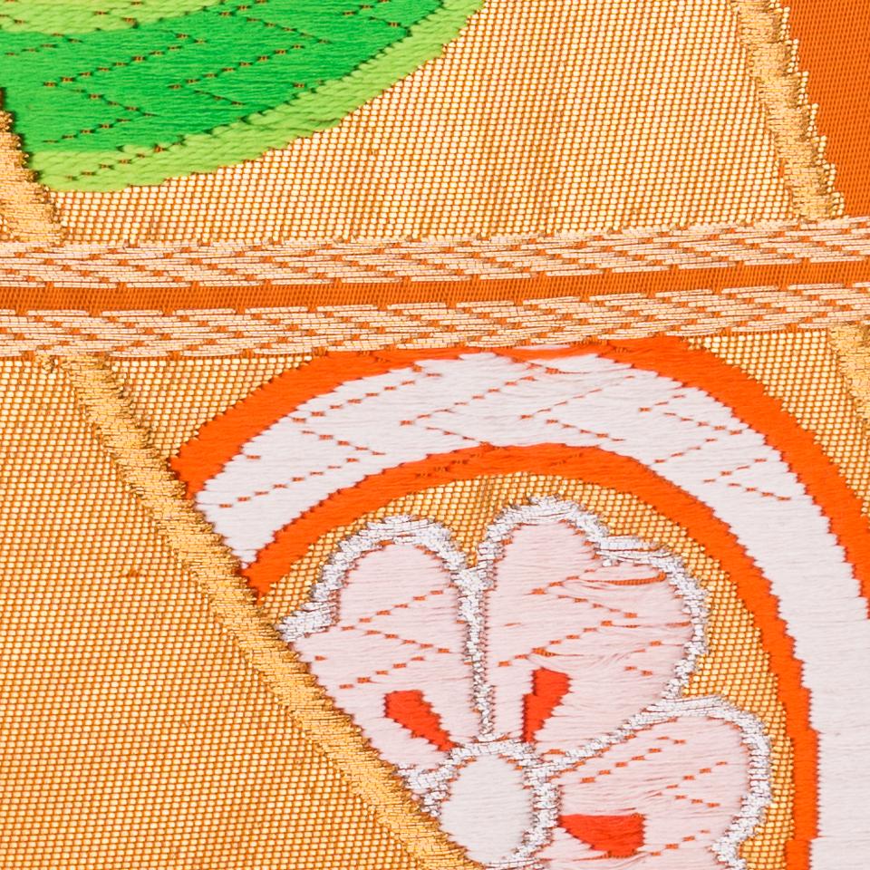 Oiseaux de paradis orange et verts 3