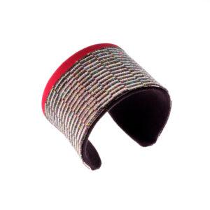 Bracelet manchette Rouge titane