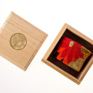 Bracelet manchette Chrysanthèmes art déco